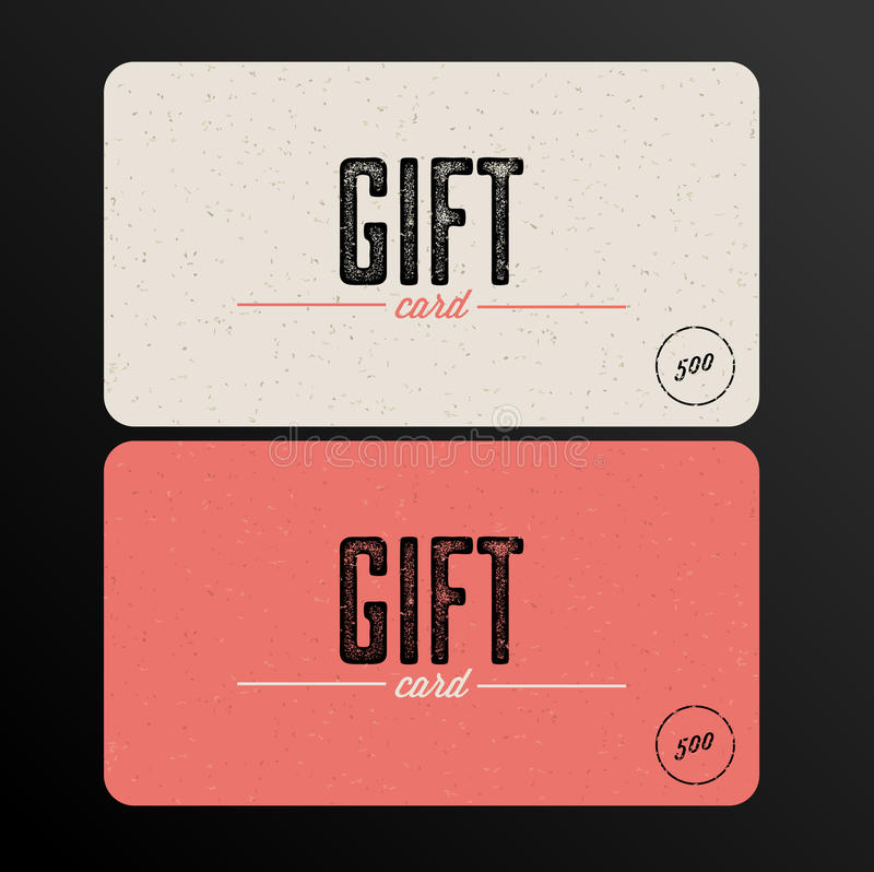 Retro Gift card template stock vector Illustration of digital - gift card template