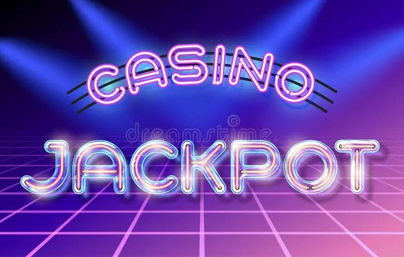 Retro glass neon lettering stock vector Illustration of casino