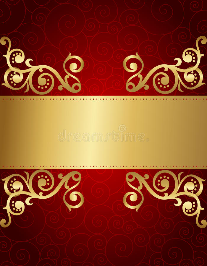 Retro Invitation Background Stock Vector - Illustration of dark