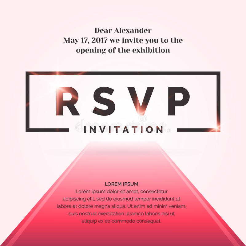 RSVP Invitation Template For The Event Stock Vector - Illustration