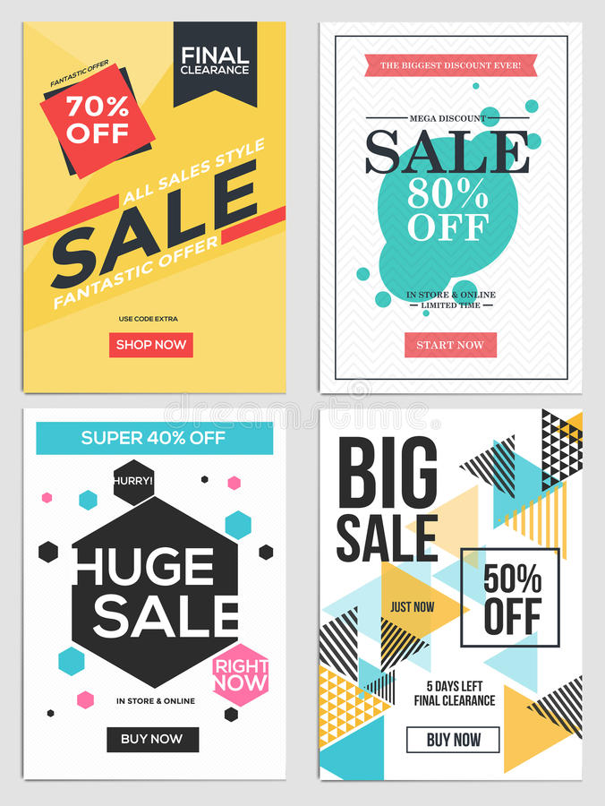Sale And Discount Flyers 5 Stock Vector - Image 76563243 - discount flyer template