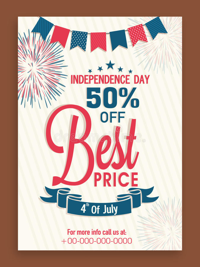 Sale Flyer Or Template For American Independence Day Celebration - independence day flyer
