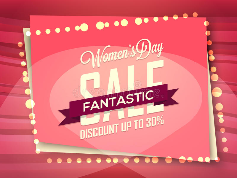 Sale Poster, Banner Or Flyer For Women\u0027s Day Stock Illustration - sale poster design