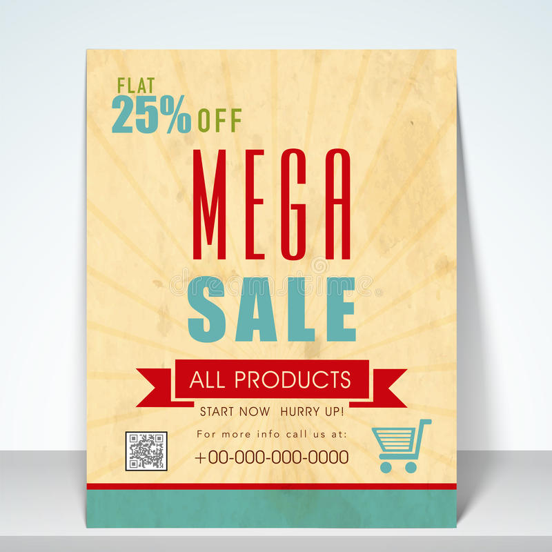 Sale Poster, Flyer Or Template Stock Photo - Image 47891720 - discount flyer template