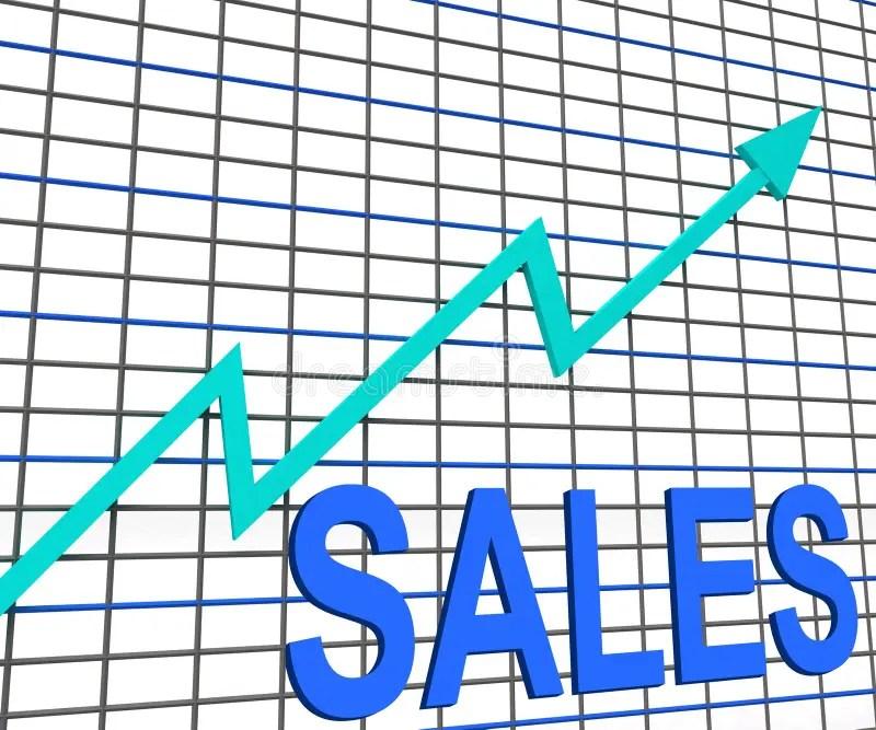 Sales Chart Graph Shows Increasing Profits Trade Stock Illustration - chart and graph