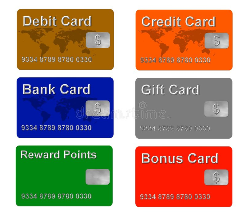 Sample Credit And Gift Cards Stock Illustration - Illustration of - sample cards