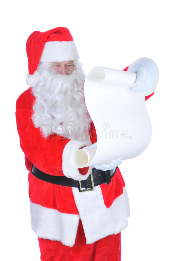 Santa Claus With A Blank Naughty List Stock Photo - Image of glasses - santa list blank
