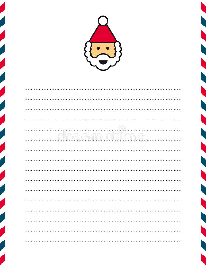 santa stationery paper - Minimfagency - lined stationary paper