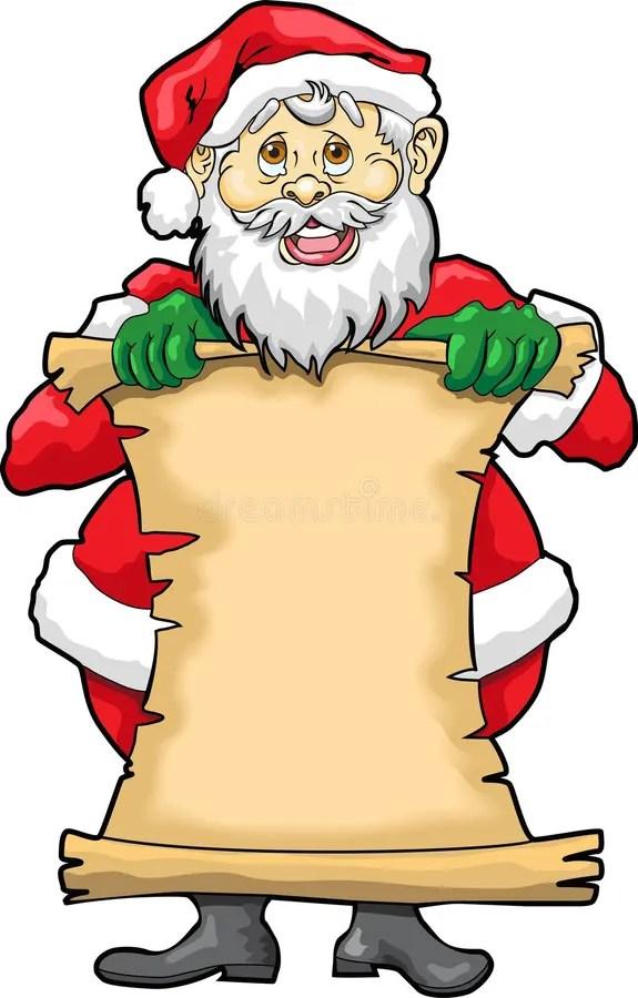 Santa\u0027s Blank List stock vector Illustration of list - 3679761 - santa list blank