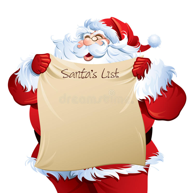 Santa showing his list stock vector Illustration of blank - 30679207 - santa list blank