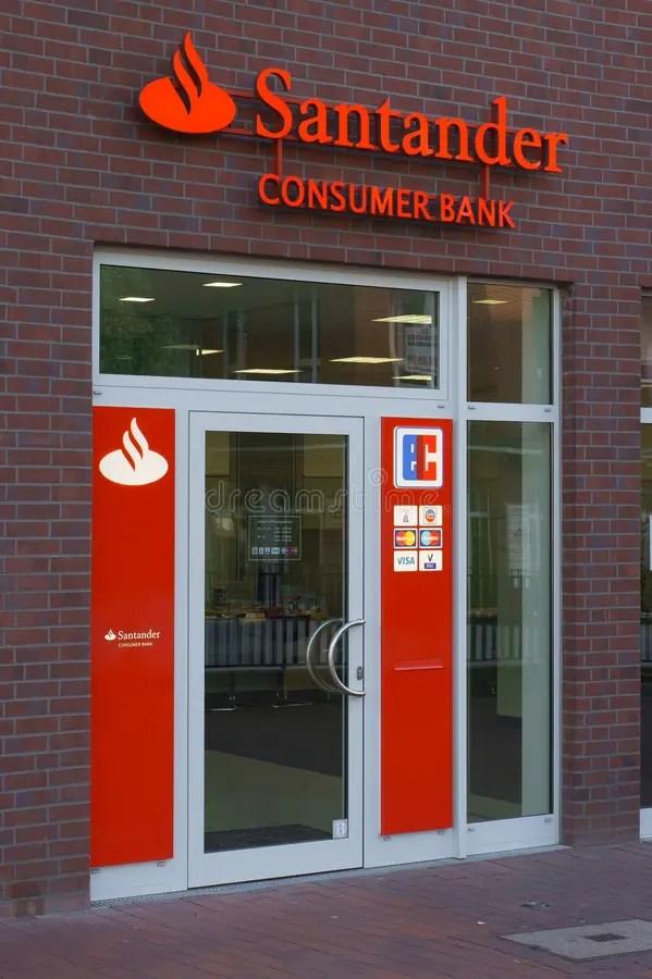 Santander Consumer Bank editorial photo Image of markenname - 43430031