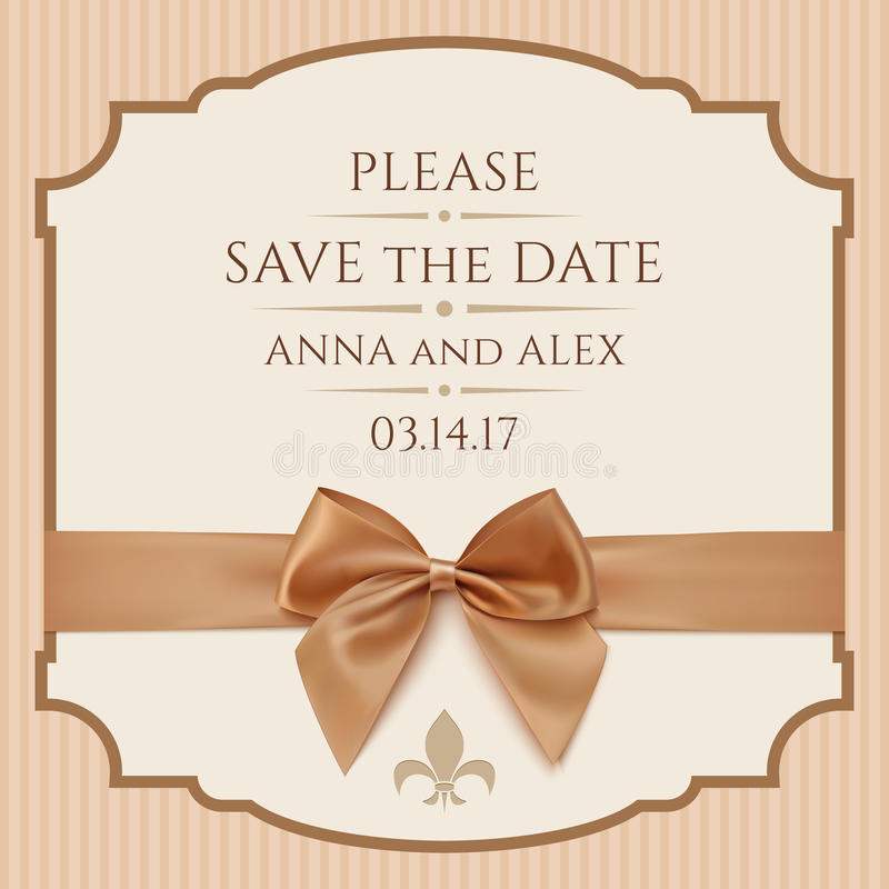 Save The Date, Wedding Invitation Card Stock Illustration - Save The Date Wedding Templates