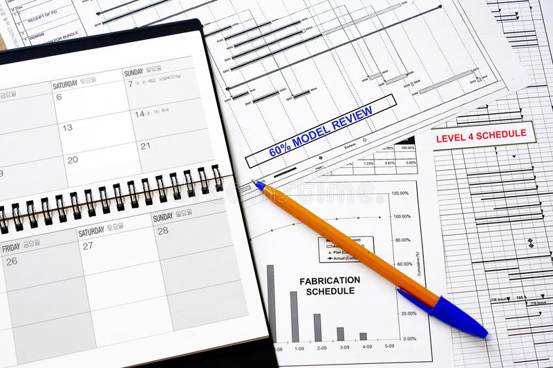Schedule graph and charts stock image Image of organizer - 103112557 - schedule graph