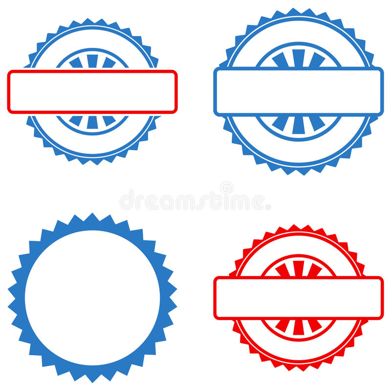 Seal Stamp Template Flat Icons Stock Vector - Illustration of - stamp template