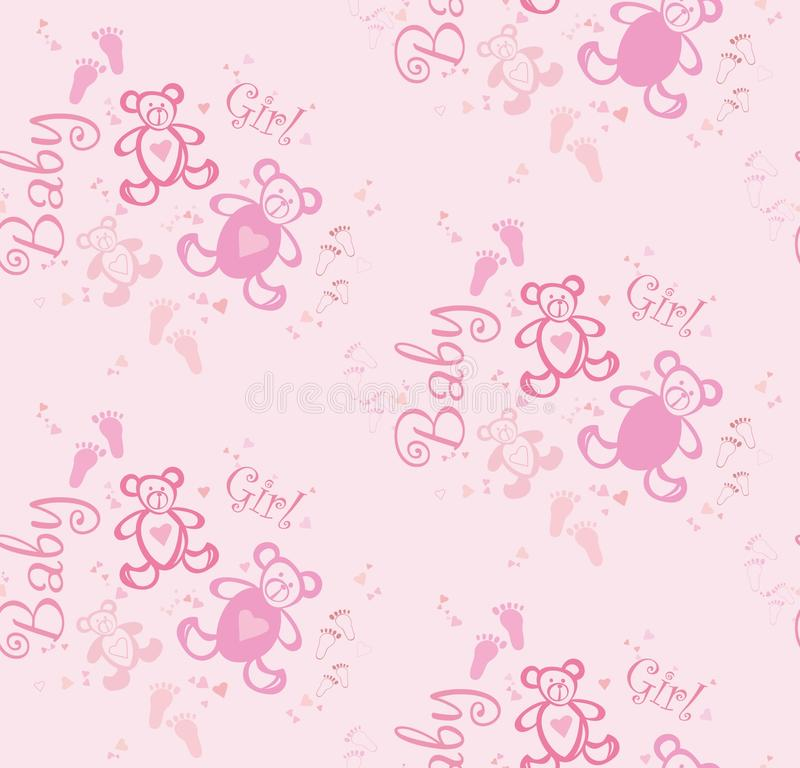 Baby Girl Nursery Wallpaper Borders Seamless Cute Pink Background For Girls With Bears And