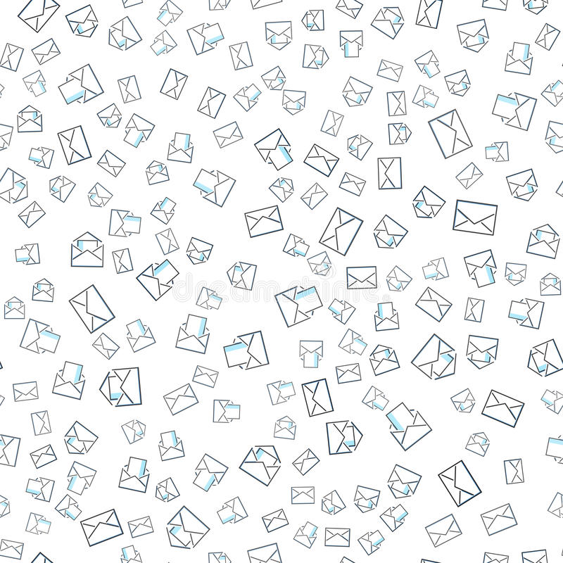 Seamless Pattern With Mail Envelopes Vector Background For Postal - mail background