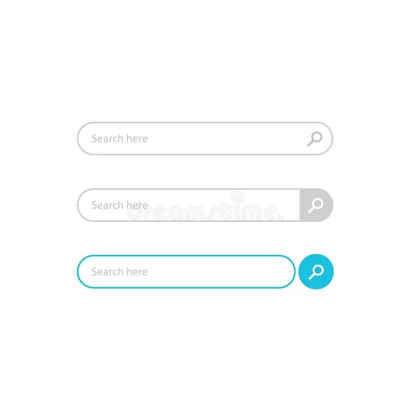 Search Bar Boxes Vector Element Design Stock Vector - Illustration