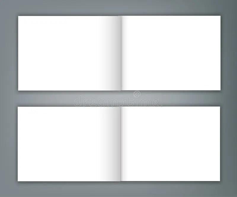 Set Of Blank Catalogue Landscape Brochure Mockup Cover Template