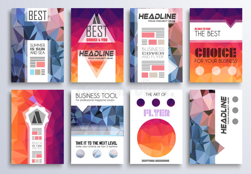 Set Of Brochure, Flyers And Layout Templates For You Projects Stock - flyer layout templates