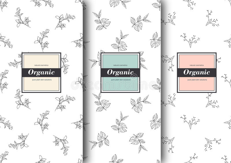 Set Of Labels, Packaging For Organic Shop Or Natural Cosmetics - packing label template