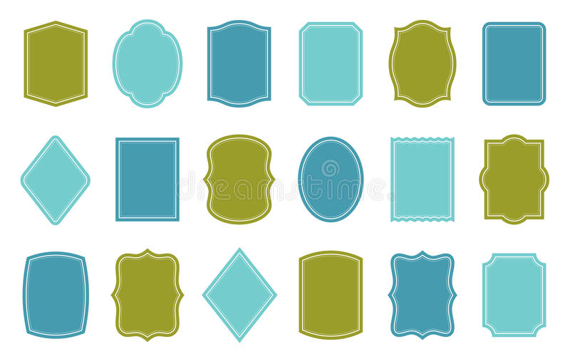 Set Of Product Label Templates Different Shapes Stock Vector