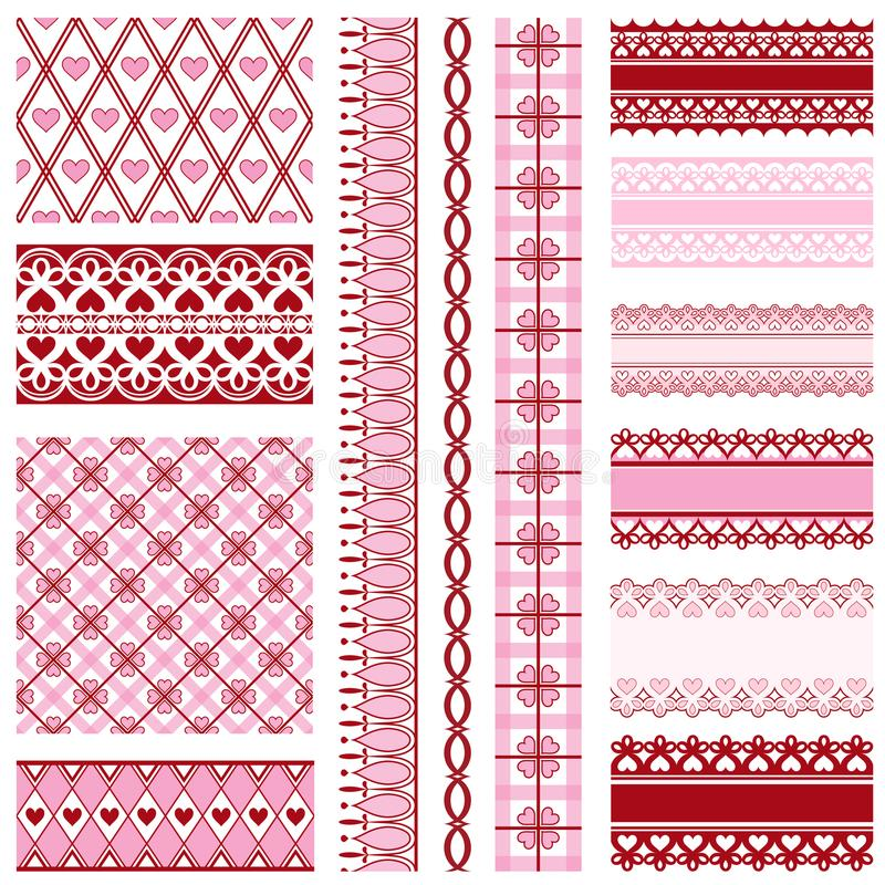 Set Of Ribbons And Backgrounds To Valentine`s Day Stock Vector