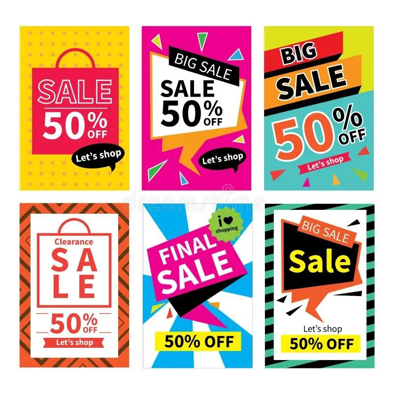 Set Of Sale Website Banner TemplatesSocial Media Banners Stock