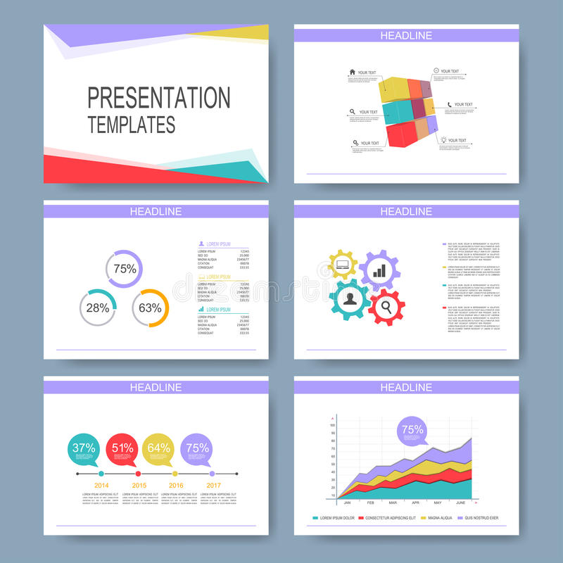 Set Of Vector Templates For Multipurpose Presentation Slides Modern