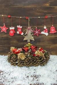 Shabby Chic Rustic Christmas Decoration Stock Photo ...
