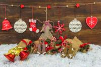 Shabby Chic Rustic Christmas Decorations Stock Image ...