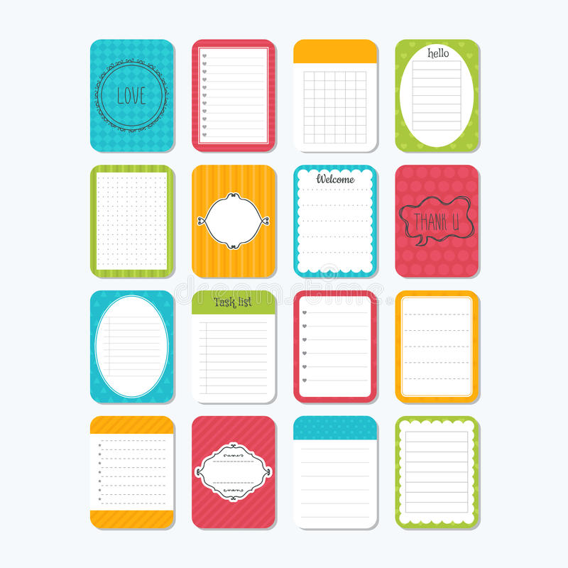 Sheets Of Paper Collection Of Various Note Papers Template Notepad - notepad paper template
