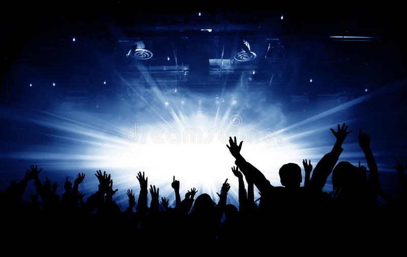 Praise And Worship Wallpaper Hd Silhouettes Of Concert And Bright Stage Lights Background