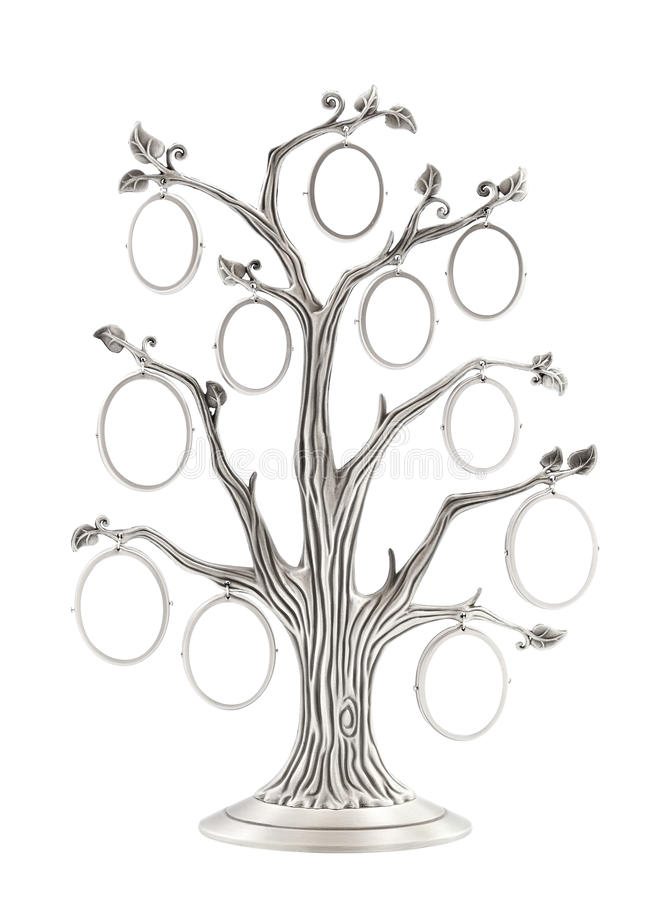 Silver Genealogical Family Tree Stock Photo - Image of empty