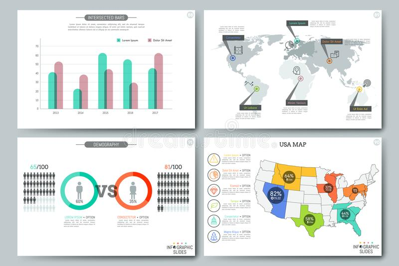 Simple Infographic Templates Stock Vector - Illustration of chart