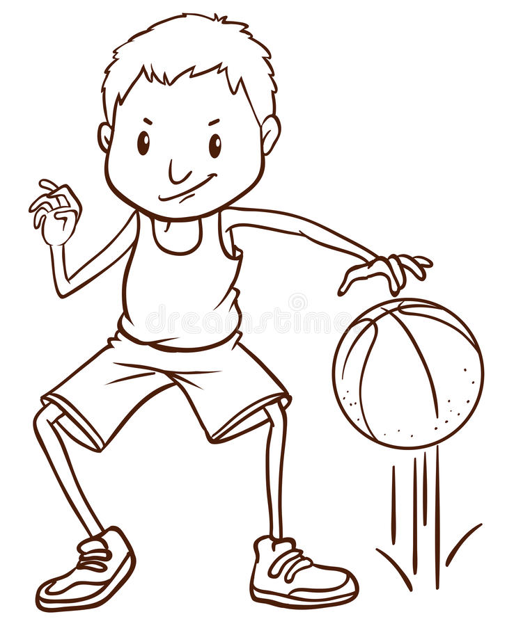 how to draw a basketball player - Tomburmoorddiner