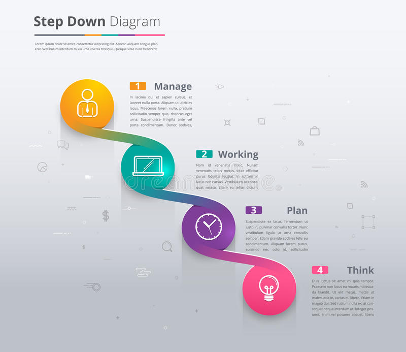 Simple Stair Infographic Diagram Chart And Icon Sample Step Do