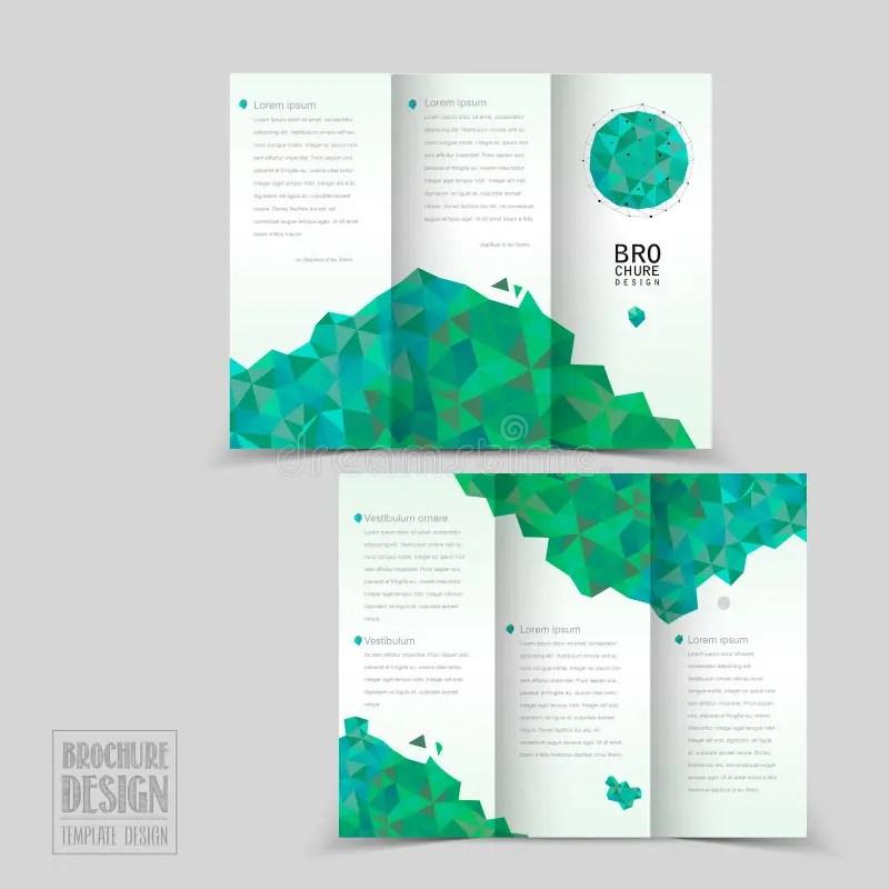 Simplicity Tri-fold Brochure Template Design Stock Vector