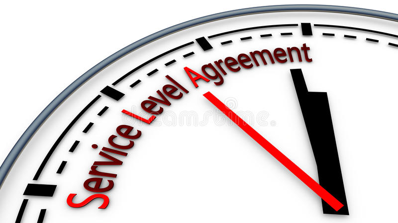 SLA Service Level Agreement Stock Illustration - Illustration of - service level agreement