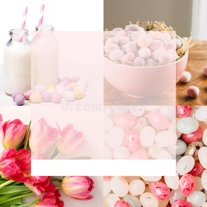 Social Media 4-up Easter Template Stock Image - Image of bottles - 4up template