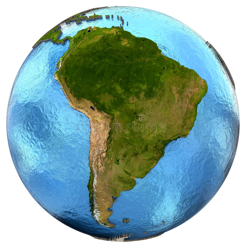South American Continent On Earth Stock Illustration - Illustration