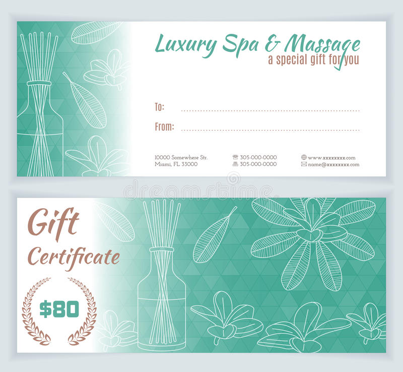 Spa, Massage Gift Certificate Template Stock Vector   Image 64494115   Money  Certificate Template Amazing Ideas