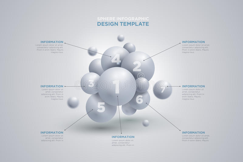 Sphere Infographics Template Stock Vector - Illustration of