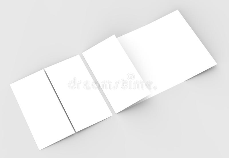 Square Gate Fold Brochure Mock Up Isolated On Soft Gray Backgrou - gate fold brochure mockup