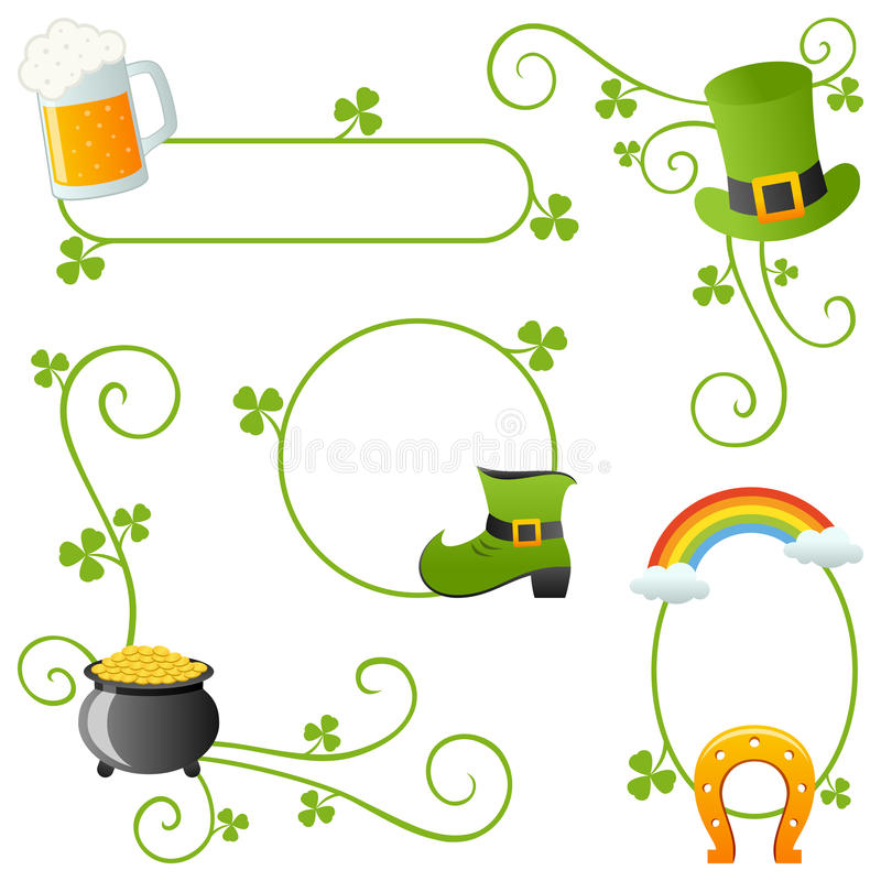St Patrick s Day Borders stock vector Illustration of decoration - 's day borders