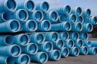 Stacks Of C900 DR18 PVC Pipe Stock Image - Image of ...
