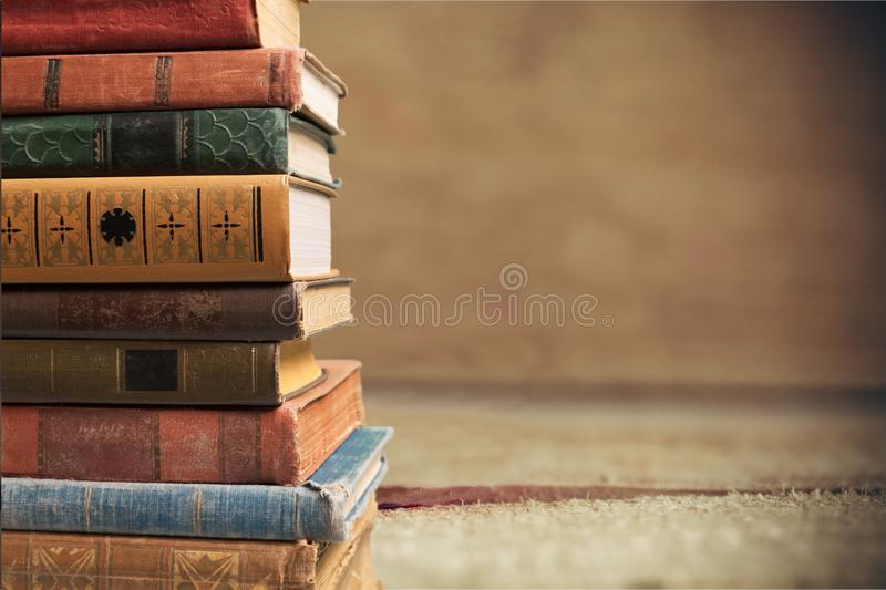 Classroom Wallpaper Hd Stacked Old Books Stock Image Image Of Brown Paper