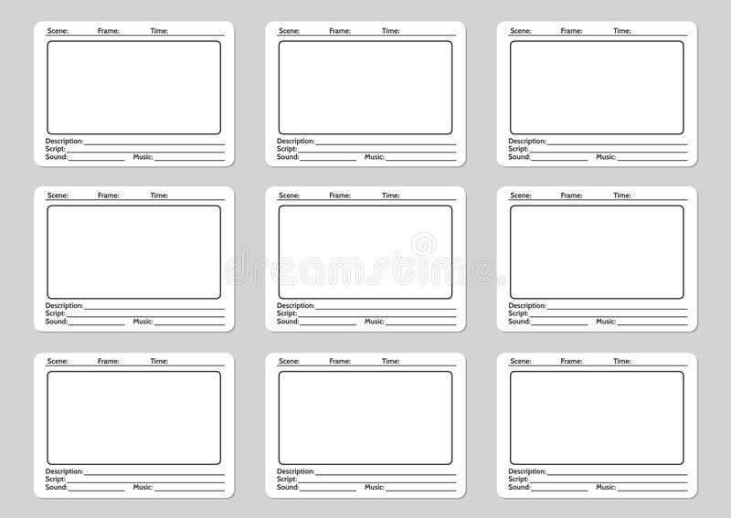 Storyboard Template For Film Stock Vector - Illustration of design