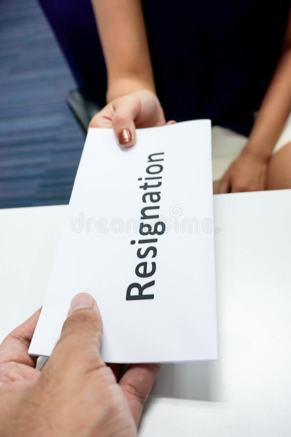 submit resignation letter
