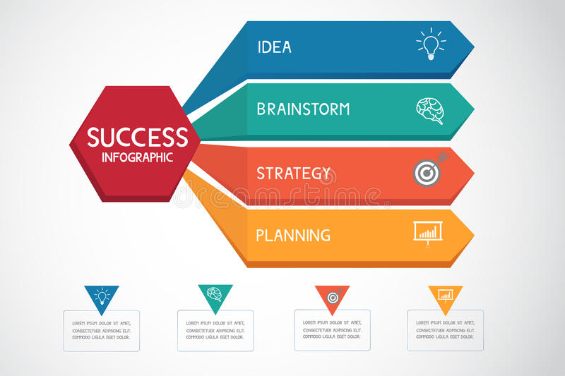 Successful Business Concept Infographic Template Can Be Used For