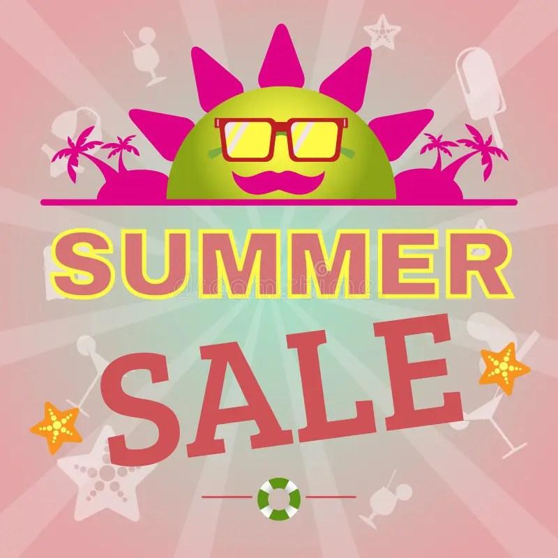 Summer Sale Promotion Flyer Stock Vector - Illustration of flyer
